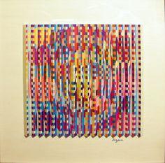 yaacov agam art | artist yaacov agam style op art genre abstract painting share share on ...