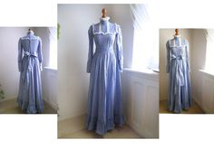 Vintage 70s LAURA ASHLEY maxi dress Romantic by SuitcaseInBerlin
