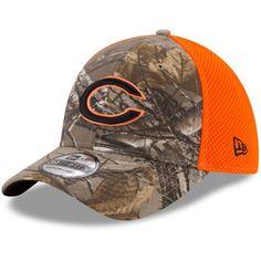 87821ffe0 Men s Chicago Bears New Era Realtree Camo Orange Blaze Neo 39THIRTY Flex Hat