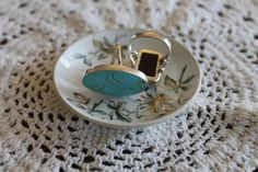 VINTAGE 1950-60's Porcelain Floral Butter Pat. Ring Dish. Earring Dish. Change Dish.