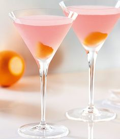 Cosmopolitan ~ The luscious, ripe orange taste of GREY GOOSE® L'Orange joins fresh, muddled clementines and a splash of triple sec in this mouthwatering cocktail.