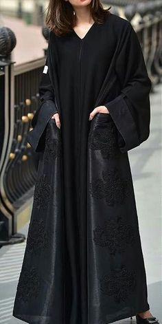 Niqab Fashion, Muslim Fashion, Modest Fashion, Fashion Outfits, Night Gown Dress, Modern Abaya, Black Abaya, Abaya Designs, Stylish Dress Designs