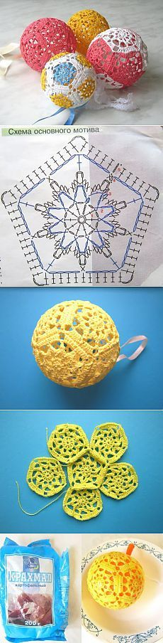 Ideas For Crochet Toys Ball Knitting Patterns Crochet Ball, Crochet Diy, Crochet Amigurumi, Thread Crochet, Crochet Motif, Crochet Crafts, Yarn Crafts, Crochet Flowers, Crochet Projects