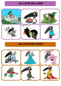 Loto du loup qui voulait. .. Wolf, Sequencing Pictures, Three Little Pigs, Montessori, Storytelling, Preschool, Animation, Cartoon, Activities