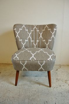 Retro 1950s cocktail bedroom chair. ikat. Osi Modern