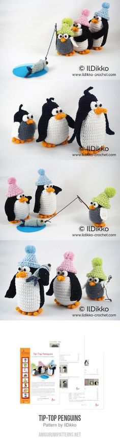 Tip-top Penguins amigurumi pattern