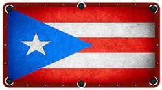 Puerto Rico Flag Billiards Cloth