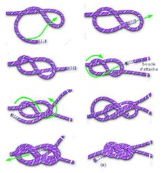 single figure of eight knot Indoor Climbing Wall, Climbing Rope, Paracord Knots, Rope Knots, Rock Climbing Techniques, Climbing Girl, Survival Knots, Climbing Harness, Knots Guide