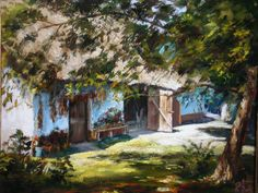 Maksai János Landscape, House Styles, Painting, Oil, Paintings, Artists, Picture Wall, Scenery, Painting Art