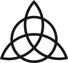 """A este símbolo se le atribuye el significado de la Santa Trinidad, , pero esto fue cuando la cristiandad llegó a nuestras tierras. En   realidad la Triketa es un símbolo pagano celta, de la religión wicana, y simboliza   tres aspectos a la diosa. Aunque también se le otorga el significado de """"cuerpo,   mente y alma"""" o """"cielo, mar y tierra""""."""