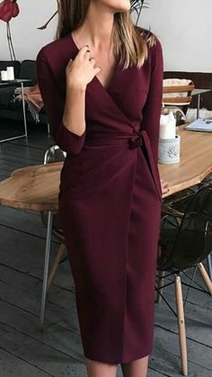 Chic Dress, Classy Dress, Classy Outfits, Elegant Outfit, Elegant Dresses, Beautiful Dresses, Dress Outfits, Fashion Dresses, Work Fashion