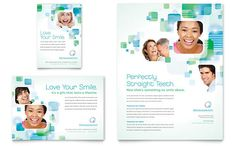 corporate brochure - use of clean blues and greens for medical materials?