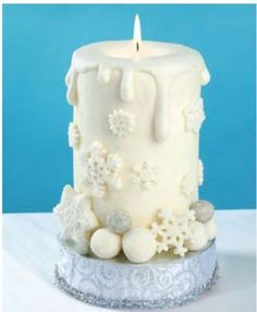 Winter Candle Cake Tutorial