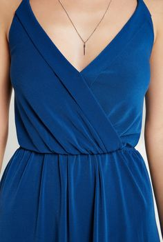 Surplice Halter V-Neck Dress