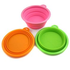 Set of 3 Ros Silicone Pet Expandable/Collapsible Travel Bowl - Size: 1.5 Cups $7.79