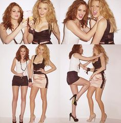 Leighton Meester & Blake Lively from Gossip Girl. Love them and their undeniable beauty!