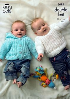Sweater, Cardigan and Hooded Jacket in King Cole Baby DK (3094)   Deramores