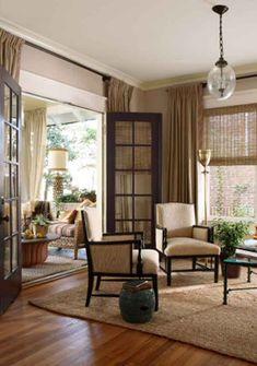 Virginia-Highland Abode - Home & Garden - Atlanta Magazine  Love the windows, black door frames, chairs, everything!