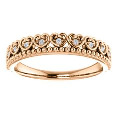 White CTW Diamond Beaded Heart Stackable Ring in White Gold - Size 7 -- Details can be found by clicking on the image. (This is an affiliate link) Small Rings, Trendy Jewelry, Stackable Rings, Band Rings, Heart Ring, Bangles, White Gold, Wedding Rings, Rose Gold