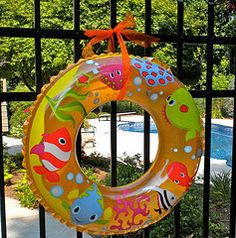 Make your next pool party a beach party. Using beach pails to hold party favors and to hold snacks and treats.