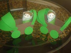 carrinho de eva com bebe de feltro para lembrancinhas