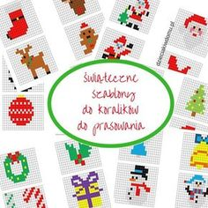 koraliki do prasowania szablony - ozdoby swiateczne Christmas Perler Beads, Advent Season, Kids And Parenting, Pixel Art, Coding, Diy Crafts, Seasons, Knitting, Holiday Decor