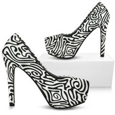 Mandala Custom Print High Heels