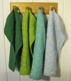 Håndklæder i strukturmønstre Pot Holders, Dyi, Towel, Dishcloth, Knitting, Crochet, Pattern, Fashion, Knitting And Crocheting