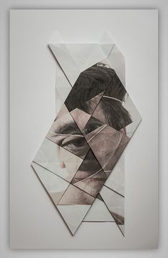 Distorted Origami Faces by Aldo Tolino