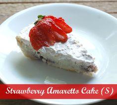 Strawberry Amaretto Cake~  Low carb, Sugar Free, THM S, Gluten Free