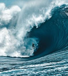Nathan Fletcher riding what is generally considered by people in the surfing world as the heaviest wave ever ridden in Tahiti.