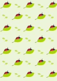 Free digital ladybug scrapbooking paper - ausdruckbares Geschenkpapier - freebie | MeinLilaPark – DIY printables and downloads