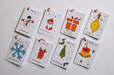 hand painted christmas gift cards - Google Search