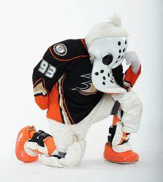 Wild Wing - mascot of the Anaheim Ducks (NHL).