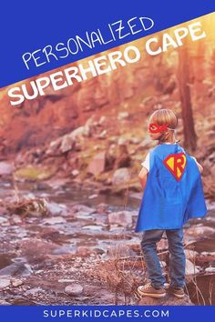 Are you looking for a personalized gift for your little hero? Our kids superhero cape is a unique costume for any little boy or girl. This one-of-a-kind bright and colorful personalized superhero cape is hand-sewn and comes double sided with an outside color and contrasting inside color! Girls and boys of all ages will love this handmade cape. Add our customized superhero cape to your classroom, dress-up corner, or birthday goodie bag. Start your adventure at superkidcapes.com! Unique Costumes, Scary Costumes, Boy Costumes, Super Hero Costumes, Costume Ideas, Superhero Costumes For Boys, Superhero Dress Up, Superhero Capes, Dress Up Corner