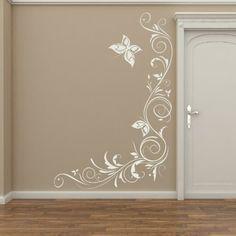 Floral-Adesivo da parete rimovibile grande e a Huge murale, decorazione dei, Rosa, Large: Amazon.it: Casa e cucina