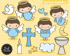 Bautizo Angel Papel Digital Instant Download High