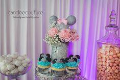Minnie Mouse floral arrangement, Minnie Mouse ears,