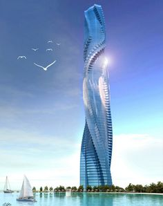 skyscraper, architecture, Dynamic Architecture, residential, building, commercial