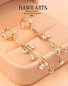 http://www.aliexpress.com/store/product/2013-wholesale-Stars-dot-classic-tassel-diamond-long-design-gold-plated-stud-earring-anti-allergic-earring/239061_1412003674.html Find More Information about New Arrival Long Korea Gold Plated Crystal Dot Tassel Stud cc Earrings Channel for Women 2014  Classic Fashion Jewelry Wholesale,High Quality jewelry 925,China earring set Suppliers, Cheap jewelry stores earrings from Hawaii Arts Jewelry