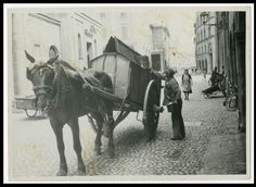 LO SPAZZINO DI BOLOGNA.Foto d Epoca Old Photo 1940 Vintage Mestieri Lavoro F292
