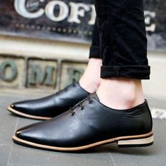 Plain Leather Loafers