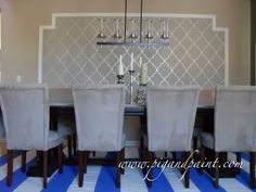 Pig and Paint: Create a Feature Wall with Framed Wallpaper (and Wall Liner)