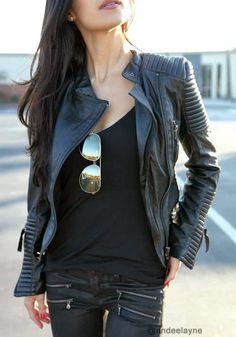 andeelayne wearing lookbook store genuine sheepskin blazer