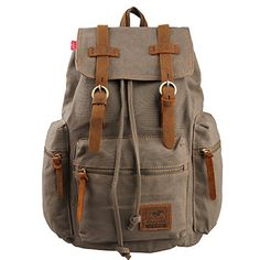 Eabag Unisex's Retro High Quality Canvas Backpack - Back to School (Army Green) EABAG http://www.amazon.com/dp/B00LTO8EUY/ref=cm_sw_r_pi_dp_908gub1Y2XN3S