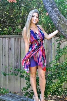 flowy silk dress