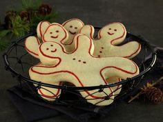 Hvite kakemenn | Oppskrift - MatPrat Christmas Baking, Gingerbread, Biscuits, Sweets, Cookies, Desserts, How To Make, House Ideas, Crack Crackers