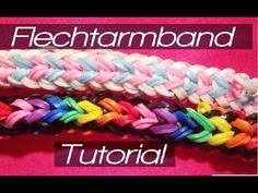 Rainbow Loom Flechtarmband | German Tutorial - YouTube  #RainbowLoom #loomen #looming  #DIY