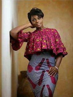 Flared blouse, pencil skirt