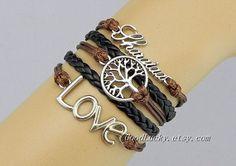 Braceletleather braceletLove braceletlucky by charmjewelrybracelet, $10.99